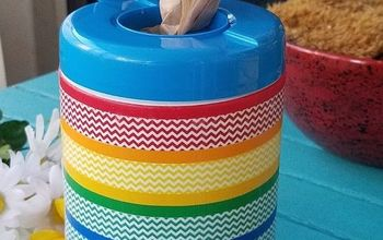 DIY Up-Cycled Plastic Container