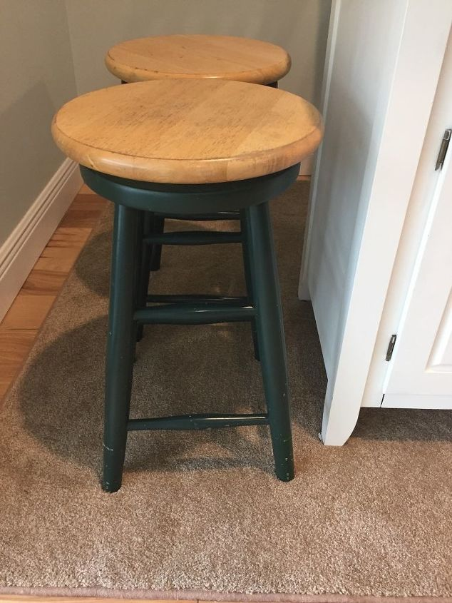 refinishing bar stools to look new again