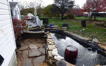 pond make over for about the 5th time