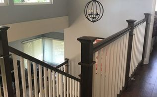 stair railing remodel