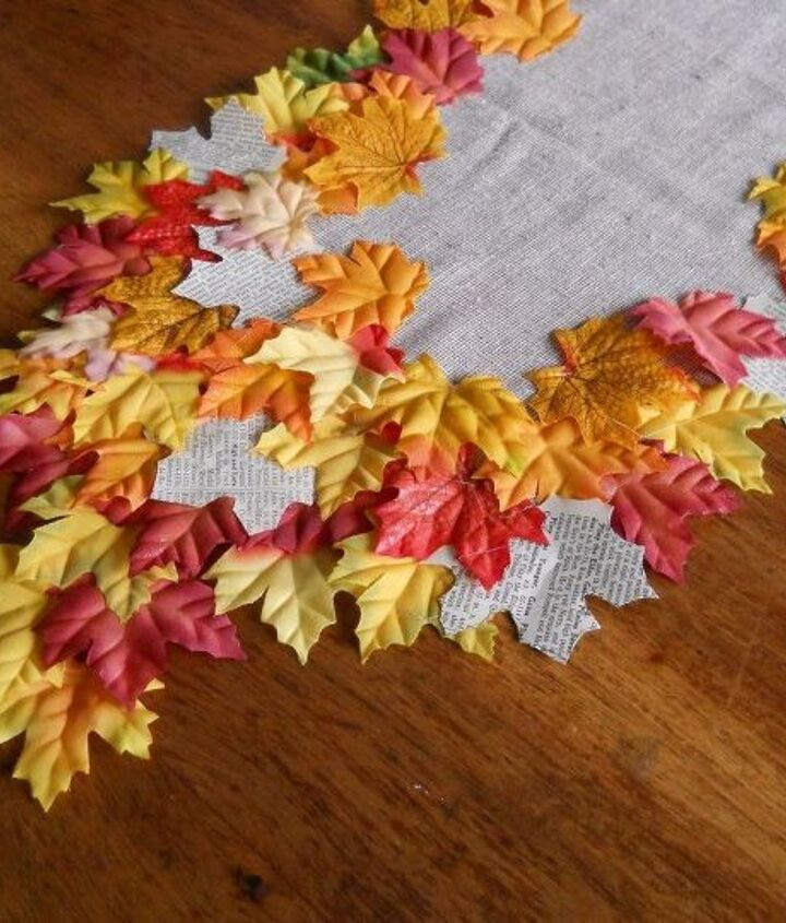 pretty quick and easy diy table runner for fall