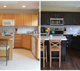 kitchen cabinets makeover - Bold Contrast