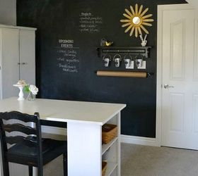 Turn an underwhelming wall into a giant chalkboard