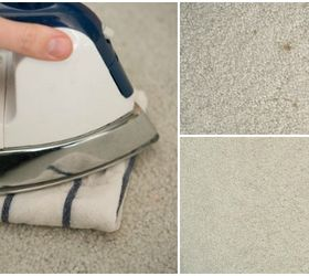 Iron out carpet stains without using chemicals