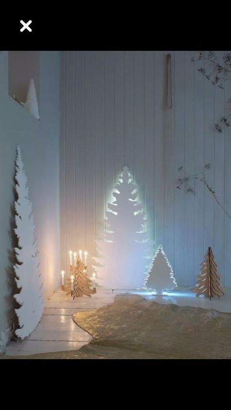 q cut out christmas trees