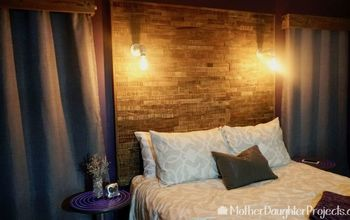 how to make a pallet headboard with wood tile