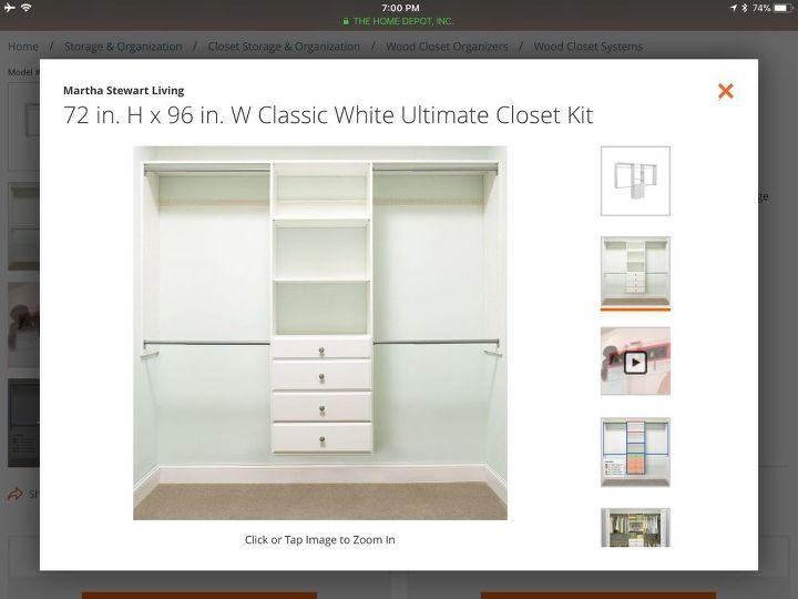 q how to build shelving unit to master closet