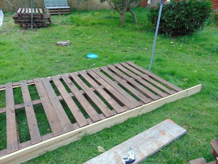 pallet deck with fire pit - DIY Pallet Deck With Fire Pit Hometalk
