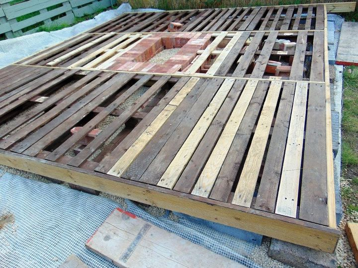 pallet deck with fire pit