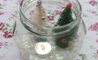 diy jar snowglobe
