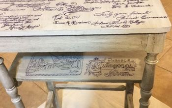 old table with letters from the past