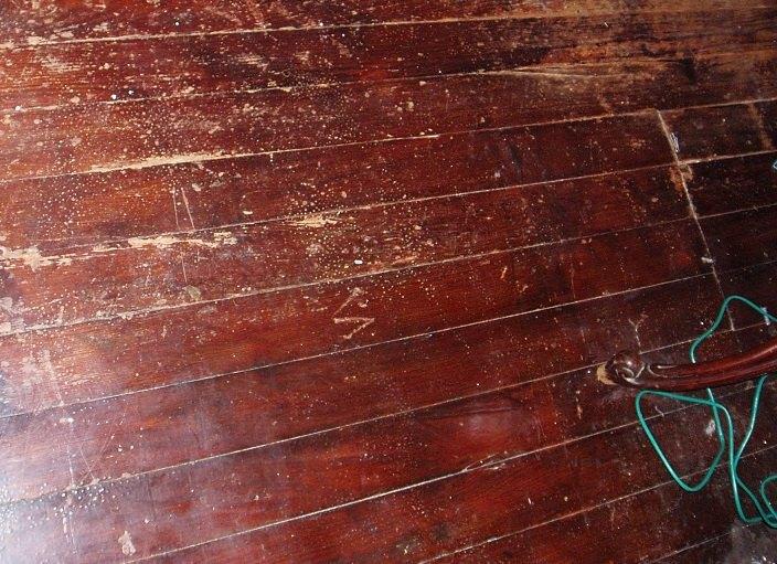painting a wood floor, Floor Before