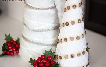 Farmhouse Style White Christmas Tree Craft