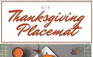 diy custom thanksgiving placemats