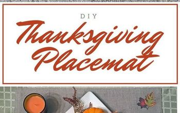 diy custom thanksgiving placemats