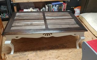 old coffee table turned wow
