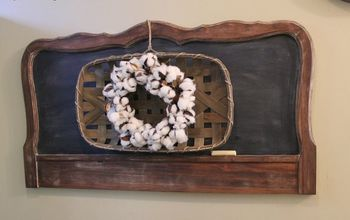 how to make a chalkboard out of a headboard