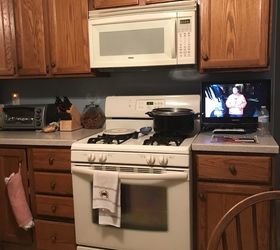 Charmant Q Would Love To Paint My Oak Cabinets White But My Appliances Are Almond