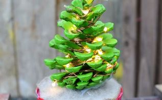 cute illuminated pine cone christmas trees