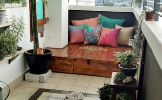 my balcony makeover, The deck and the floor decal