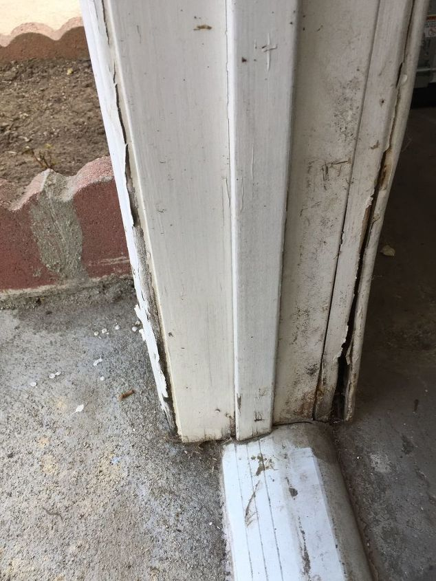 q side door of garage water damage
