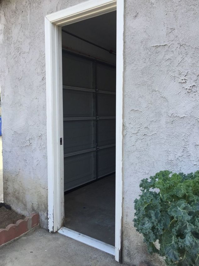 Side door of garage water damage | Hometalk