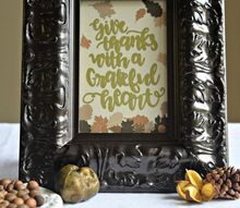 diy thanksgiving craft a thrift store upcycle