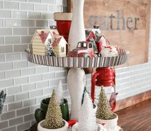 turn your old tart pans into a tiered stand