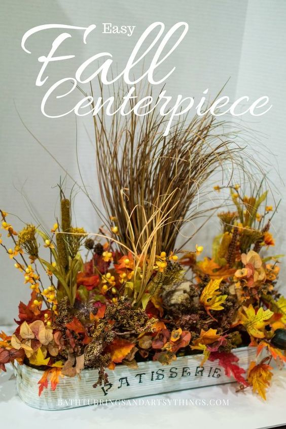 create an amazing fall flower arrangement from thrift store items