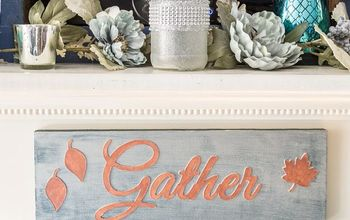 easy diy fall fireplace mantel sign