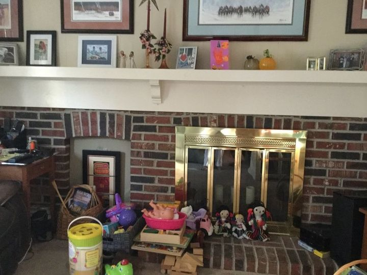 q how do i update a 1974 brick fireplace