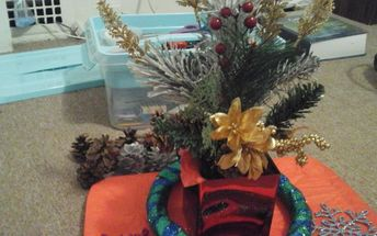 christmas center piece natural elements challenge