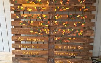 Fall Themed Painted Pallet Sign