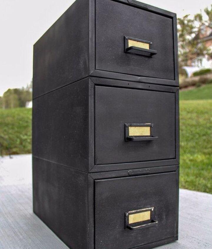 modern rustic file cabinet makeover