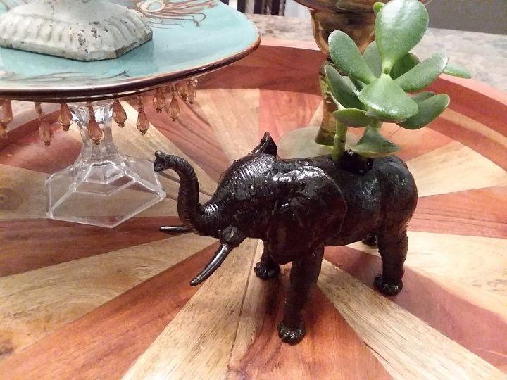 Finished Elephant Planter