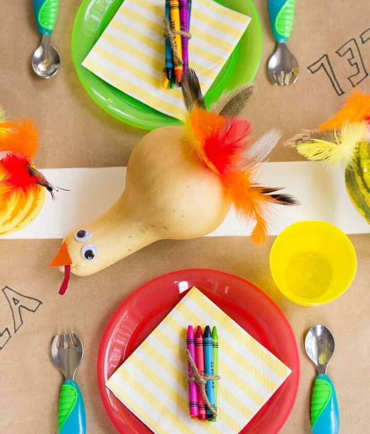 gourd turkeys perfect for thanksgiving kids table