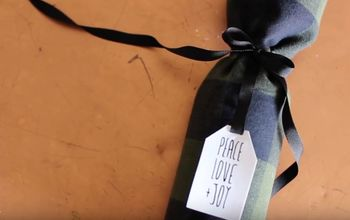 2 ways to wrap wine with an t shirt
