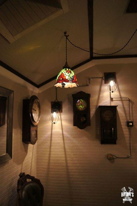 awesome wall light idea using cord decor