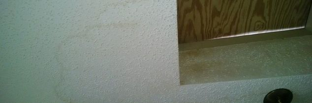 q can faded and water stained popcorn ceilings be painted