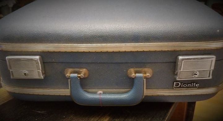 old suitcase becomes a side table hometalk
