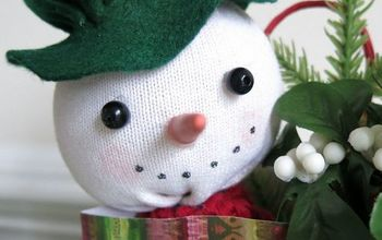 Take a Peek at This Sock Snowman, Peeking Out of a Holiday Gift Bag
