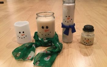Easy Homemade Snowman Candles