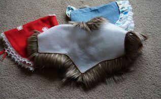 a fur trimmed tree skirt