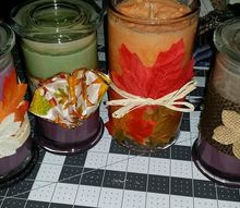decorating candles in a jar