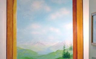 trompe l oeil fool or trick the eye wall painting