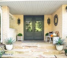 fall front porch decorating on a budget