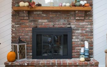 how to update a fireplace door with spray paint