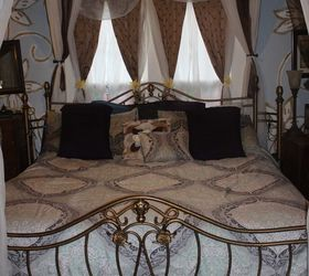 Turn Any Bed Into A Canopy Bed, Pic Taken After I Updated Curtains Bedding