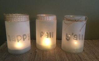 easy fall frosted candle craft