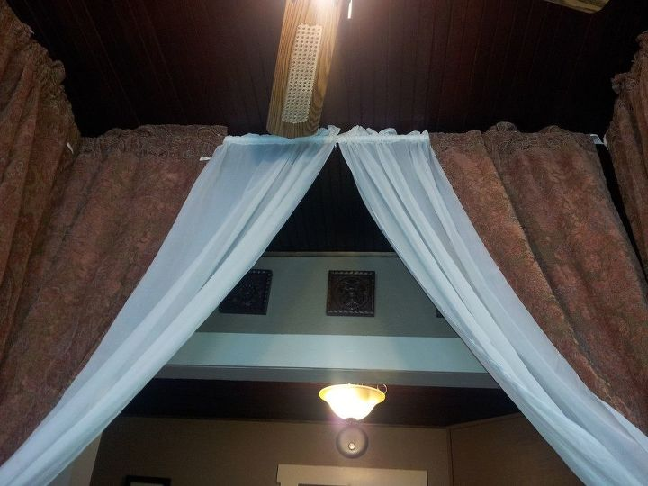 turn any bed into a canopy bed